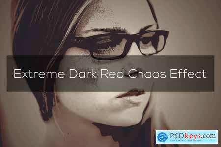 Creativemarket Extreme Dark Red Chaos Effect