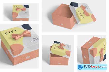 Creativemarket Square Gift Box Mockups