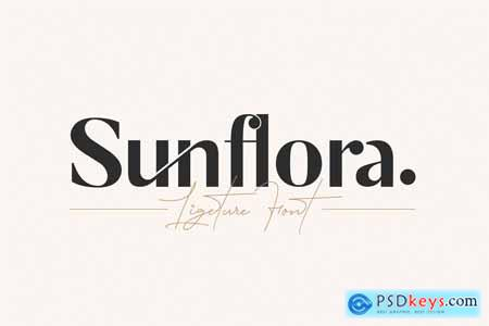 Creativemarket Sunflora - Unique Ligature Font