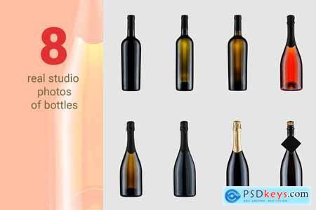 Creativemarket Wine and Food Scene Creator Bundle