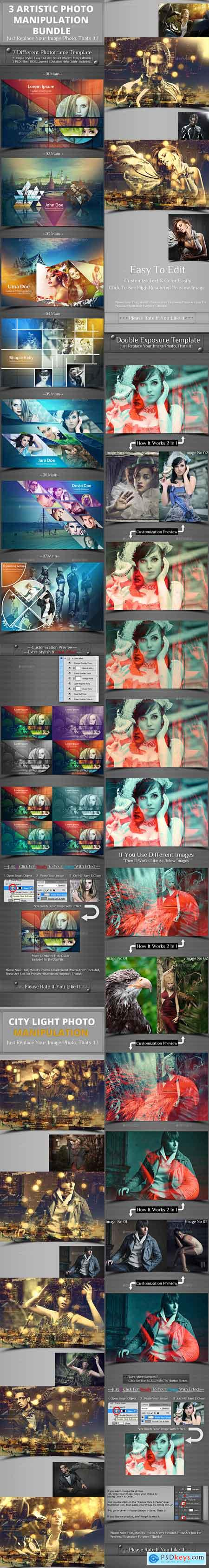 Graphicriver 3 Photo Template Bundle V2