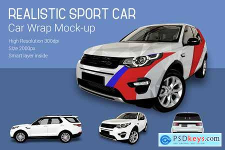 Creativemarket Sport Car Mock-up