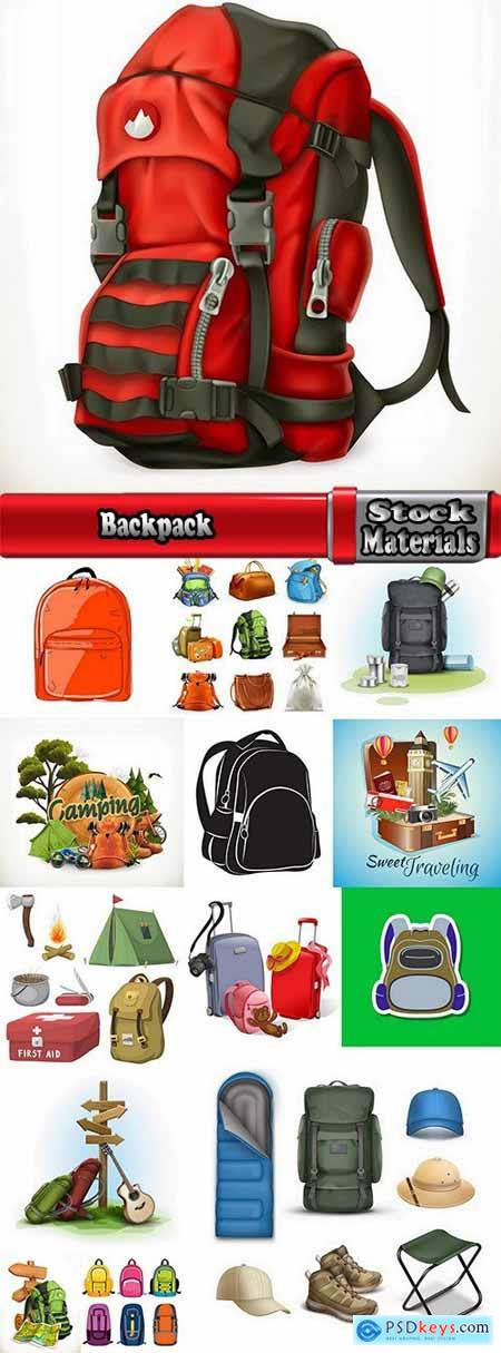 Backpack luggage suitcase travel bag 15 EPS