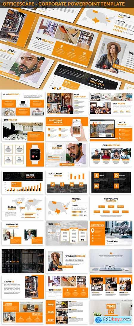 Officescape - Corporate Powerpoint Template » Free Download