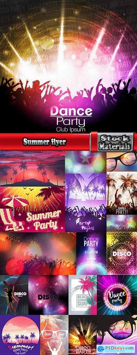 Summer flyer disco party 19 EPS