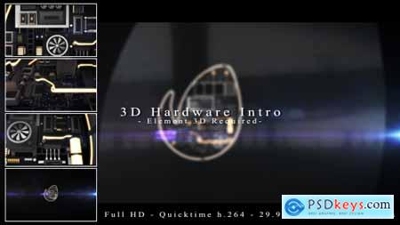 Videohive 3D Hardware Intro Free