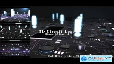 Videohive 3D Circuit Intro Free