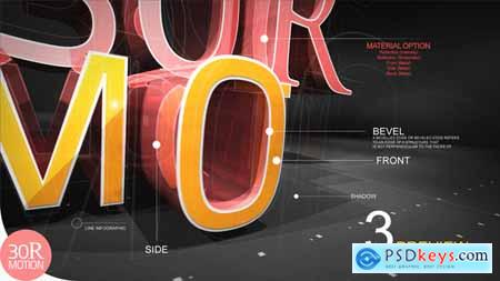 Videohive 3D Text Reveal Free