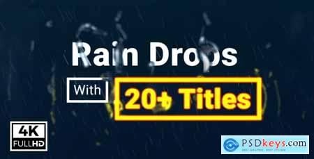 Videohive Rain Drops With Titles Free