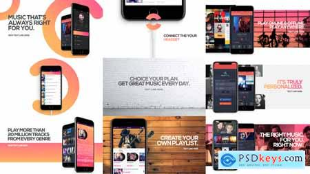 Videohive Music App Promo Free