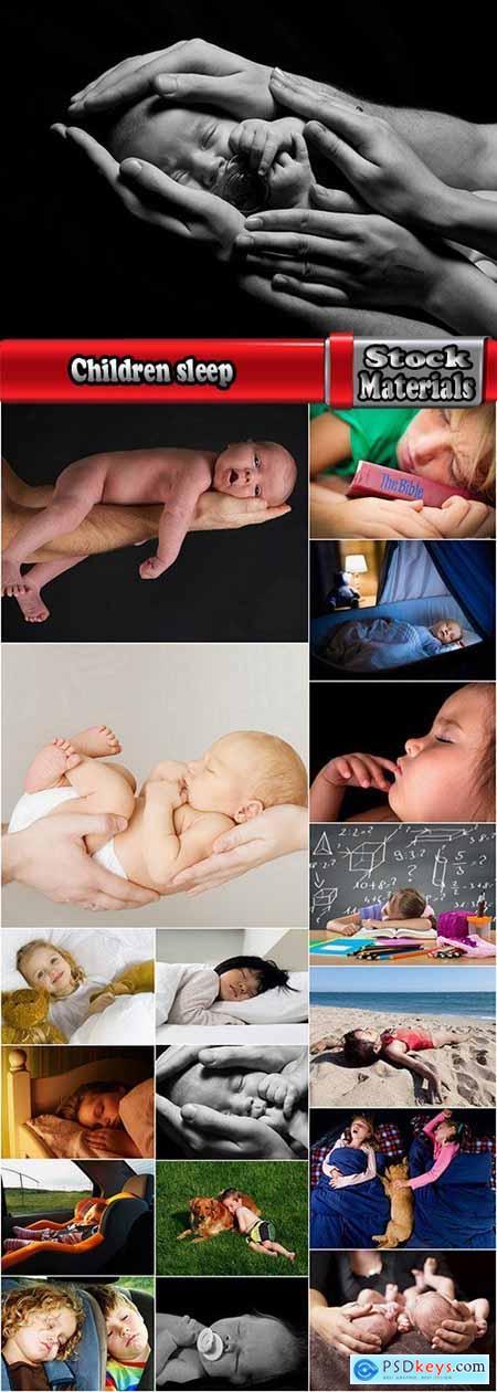 Children sleep dream rest baby newborn 18 HQ Jpeg