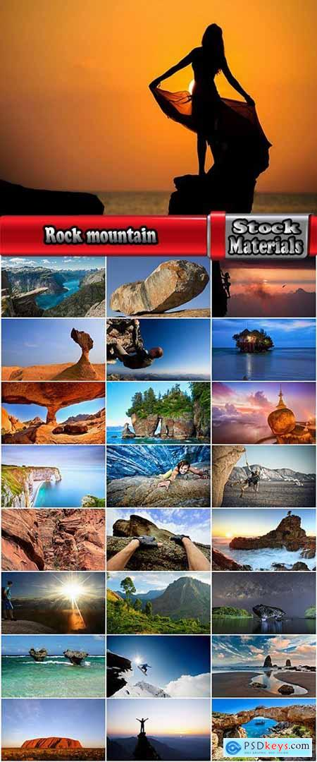Rock mountain nature landscape sea ocean stone wall 25 HQ Jpeg