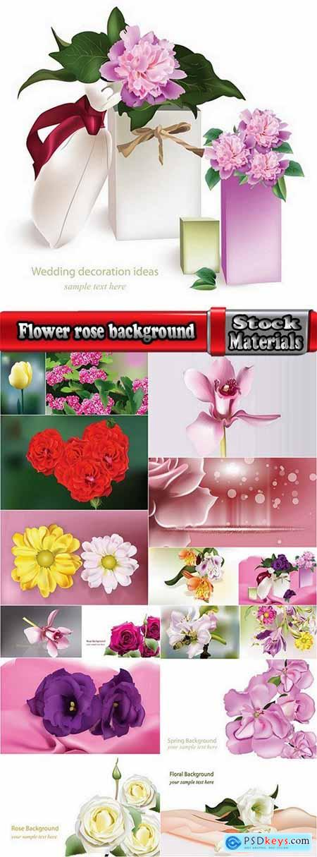 Flower rose background is advertising card card 17 EPS