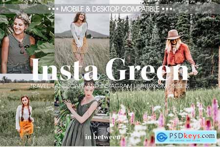 Creativemarket Insta Green Lightroom Mobile Presets
