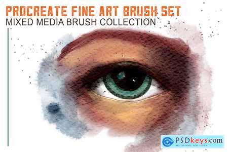 Creativemarket Procreate Mixed Media Brushes