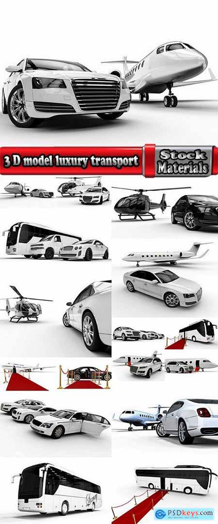 3 D model luxury transport aircraft car SUV helicopter airbus 17 HQ Jpeg