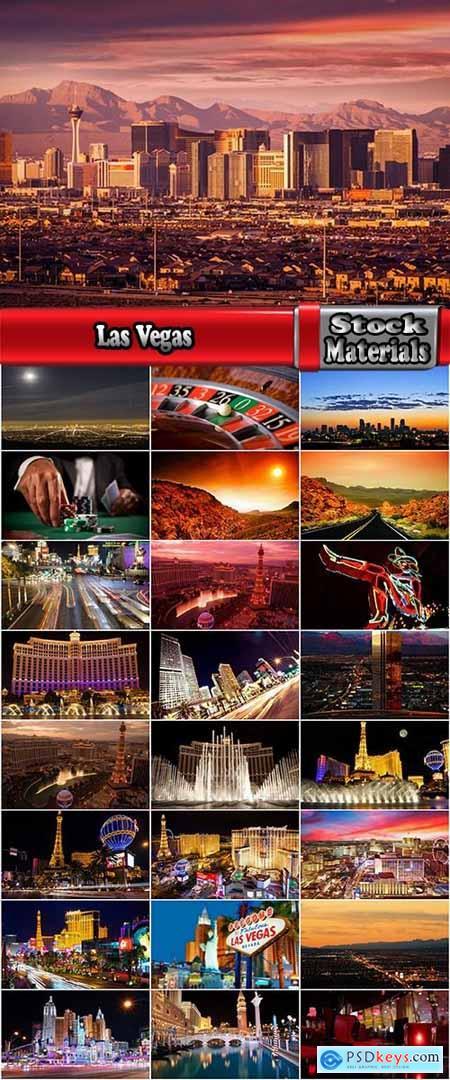 Las Vegas Nevada desert night city fire light entertainment roulette game 25 HQ Jpeg