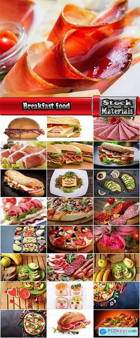 Breakfast food burger sandwich pizza sausage meat bread 25 HQ Jpeg