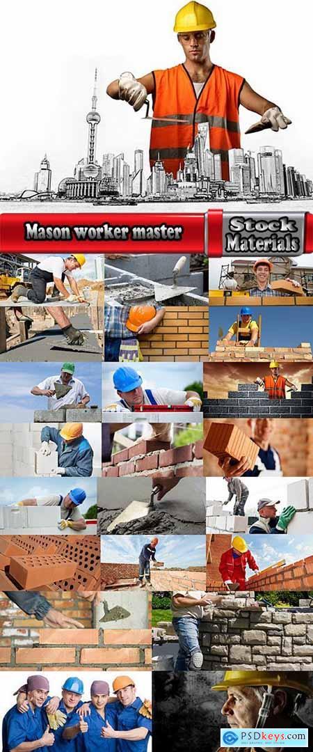 Mason worker master masonry brick stone wall 23 HQ Jpeg