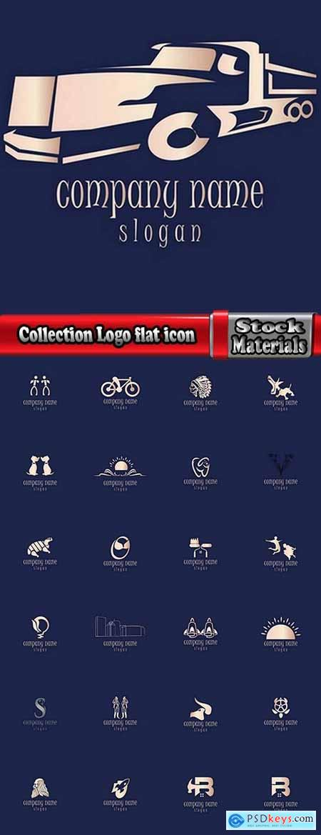 Collection Logo flat icon web design element site 97-25 EPS