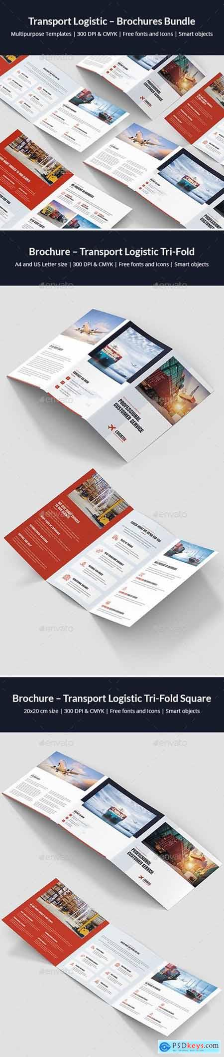 Transport Logistic – Brochures Bundle Print Templates 6 in 1
