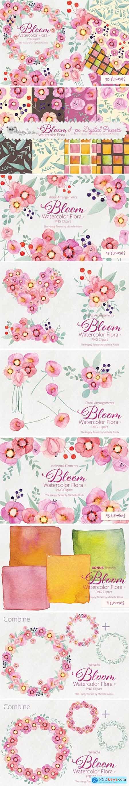 Bloom Watercolor Flora #31