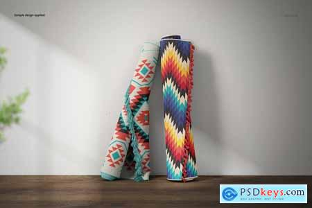 Creativemarket Fringed Rugs Mockup Set