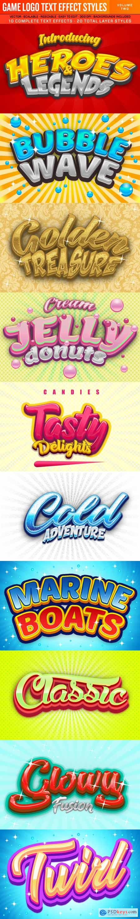 Graphicriver Game Logo Text Effect Styles 2
