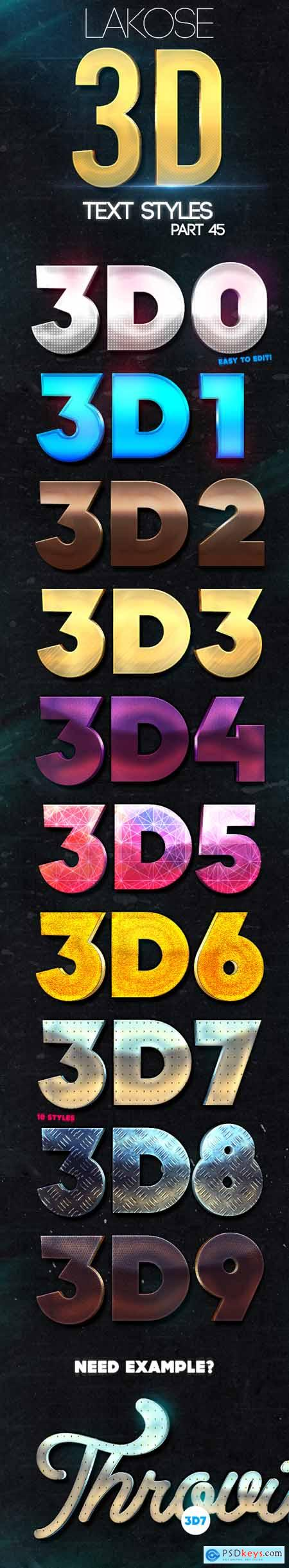 Graphicriver Lakose 3D Text Styles Part 45