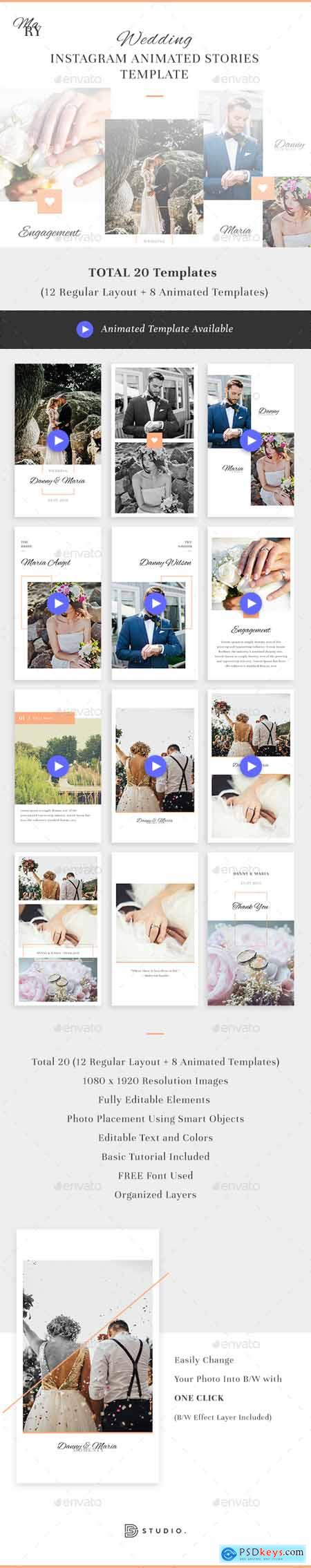 Graphicriver Mary - Wedding Instagram Animated Stories