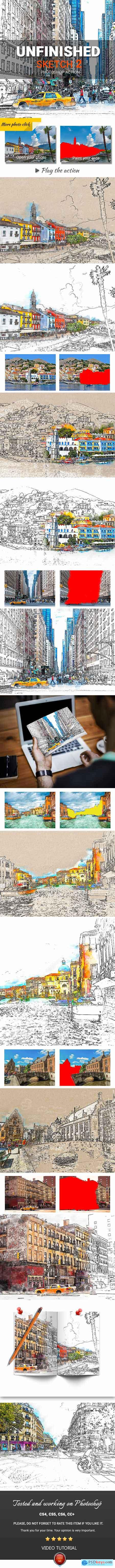 Graphicriver Urban Sketch2 Photoshop Action