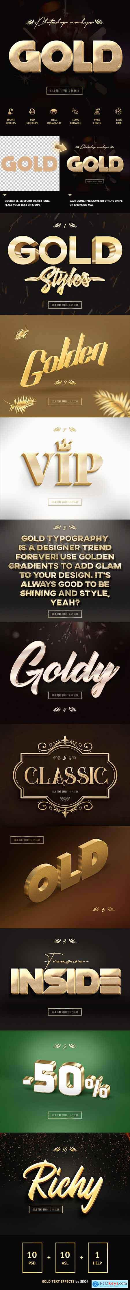 Graphicriver 3D Gold Text Effects