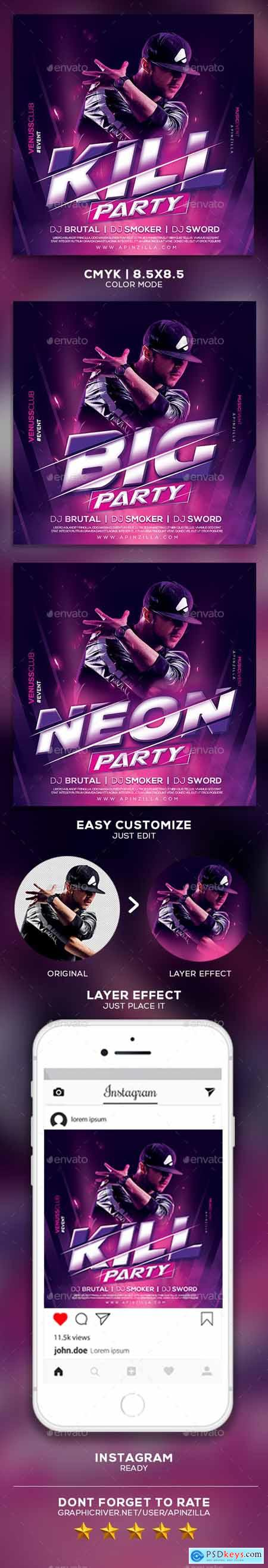 Graphicriver DJ Music Party Flyer