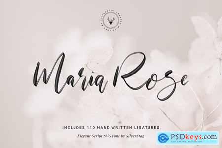 Creativemarket Maria Rose Elegant Hand Written Script SVG Font
