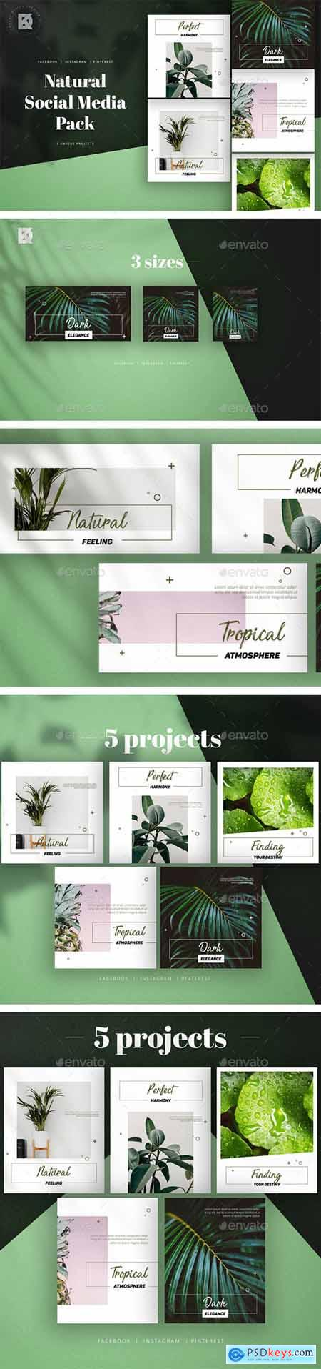 Graphicriver Natural Social Media Pack