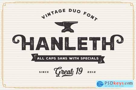 Hanleth vintage font duo