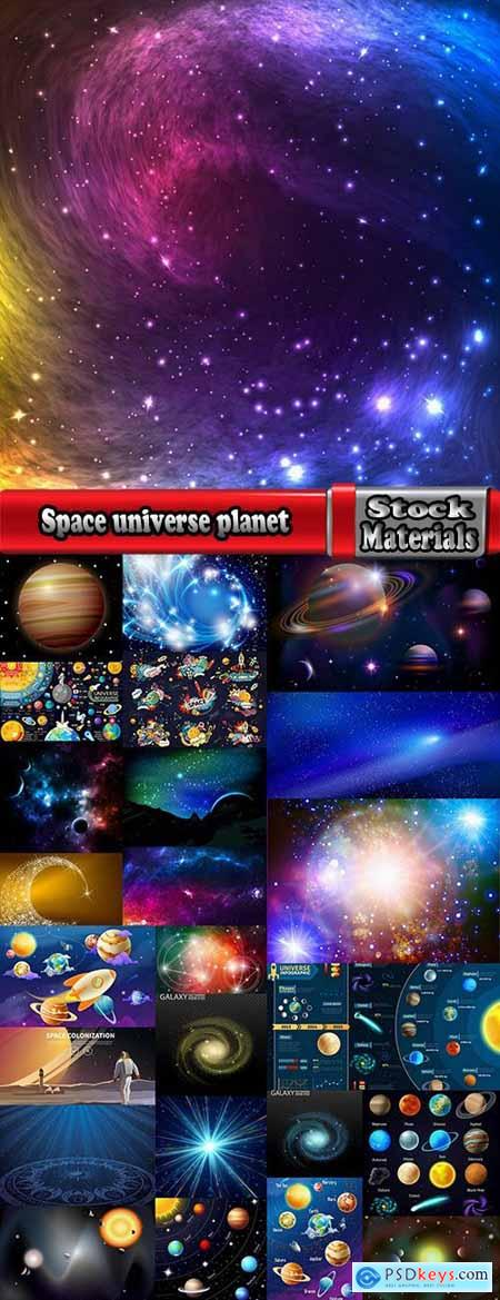 Space universe planet satellite space stars solar system 25 EPS