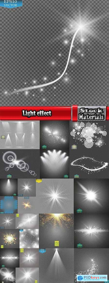 Light effect wave line lace lamp flyer banner background is a design element 25 EPS