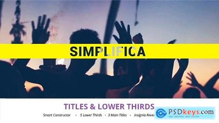 Videohive Simplifica Titles & Lower Thirds Free