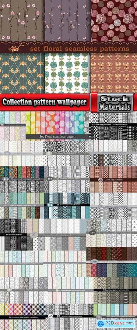 Collection pattern wallpaper sample calligraphic drawing frame vector image 7-25 EPS