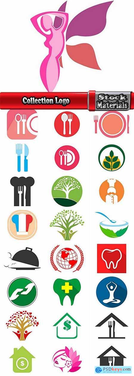 Collection Logo flat icon web design element site 94-25 EPS