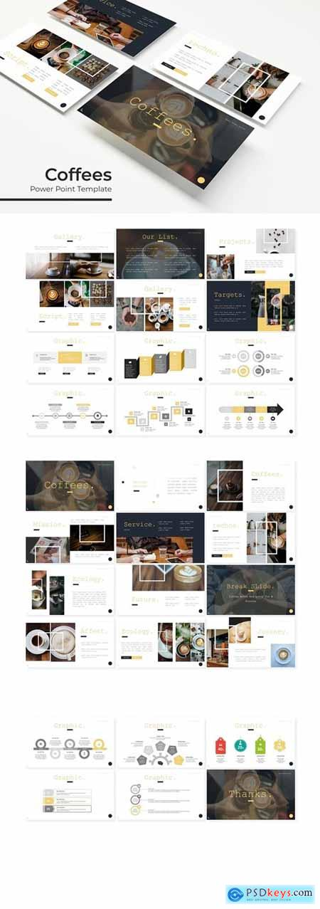 Coffees - Powerpoint, Keynote, Google Slides Templates