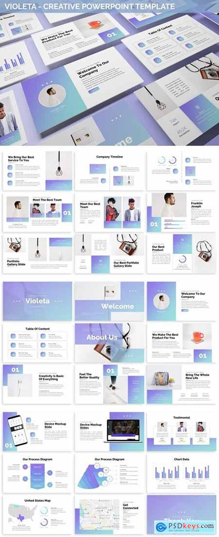 Violeta - Creative Powerpoint Template