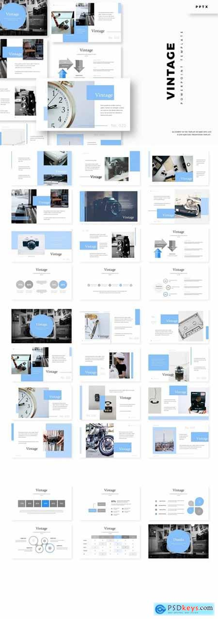 Vintage - Powerpoint, Keynote, Google Slides Templates