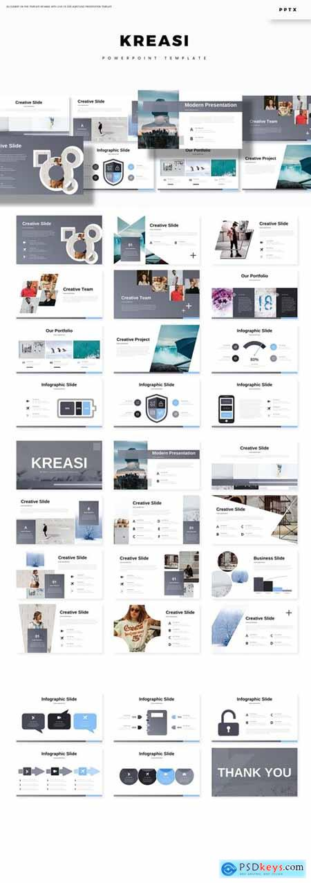 Kreasi - Powerpoint, Keynote, Google Slides Templates