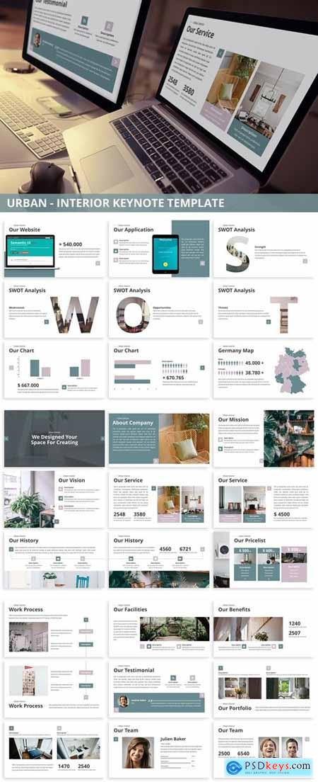 Urban - Interior Keynote Template