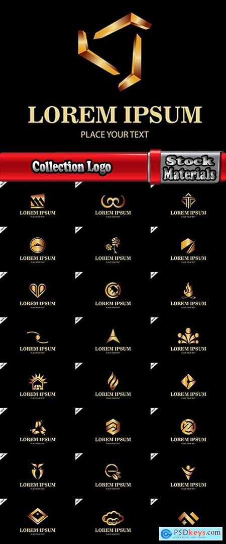Collection Logo flat icon web design element site 93-25 EPS