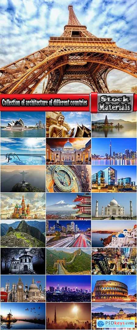 Collection of architecture of different countries skyscraper historical building travel sights 25 HQ Jpeg