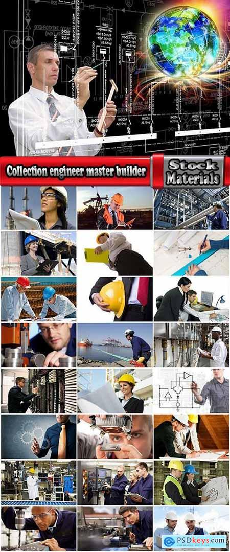 Collection engineer master builder businessman factory manufacture construction invention 25 HQ Jpeg