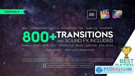 Videohive FCPX 725+ Transitions and Sound FX v5.8 Free